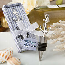 24 Nautical Themed Anchor Wine Bottle Stoppers Bridal Shower Wedding Favors