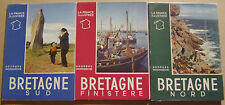 MONMARCHE Georges - BRETAGNE NORD ET SUD FINISTERE - 3 VOLUMES - MOLINARD - 1955