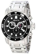 Invicta 0069 Men's Pro Diver SS Black Dial Chronograph Watch