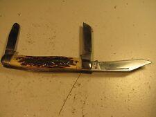 """Vintage SCHRADE 885-UH """"Uncle Henry"""" 3 Blade Folding Pocket Knife"""