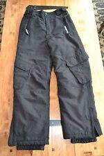 Childrens Black Ski Trousers; Age 9-10; Great quality and good condition