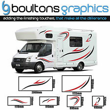 MOTORHOME STRIPES -2 Colour Camper RV Sticker Horsebox Caravan Decal Graphic SS3