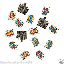 Boys Superhero Pop Art TABLE INVITE CONFETTI 14g Pow Boom Zap