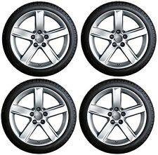"""SET OF FOUR GENUINE AUDI A4 B8 ALLROAD 17"""" ALLOY WHEELS + DUNLOP WINTER TYRES"""