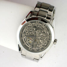 Kenneth Cole New York Men's Skeleton Automatic Watch KC9376 Silver Tone SS Link
