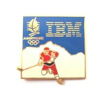 Pin's IBM Jeux olympiques d'Albertville 92 Hockey