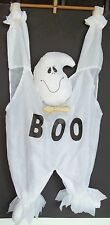 Hanging White Cloth Nylon Ghost BOO Halloween 1990's Autumn Decoration 26 x 13""