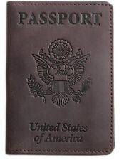 Shvigel Passport Holder-Cover and Travel Wallet Leather-For Men & Women -Protect
