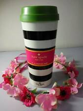 NWT Kate Spade Thermal Mug in Black & White Stripes