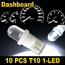 10x White T10 W5W 194 168 2825 1-LED Wedge Light Bulbs Car Dashboard Side Lamp