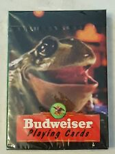 vintage 1996 budweiser playing cards 383 new sealed in package made in USA frog