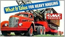 Reproduction of Plasticville Billboard GMC Trucks What it Takes for Heavy Haulin