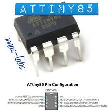 ATMEL ATTINY 85 8 PIN MICROCONTROLLORE // ATTINY85 -20 // ATTINY85-20 // ARDUINO