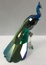 SWAROVSKI CRYSTAL SCS EXCLUSIVE COLOR PEACOCK FIGURINE 2013 1145553 RETIRED MIB