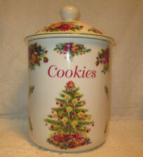Holiday Classic Collection 1998 CHRISTMAS TREE COOKIE JAR Royal Albert Fine Chin