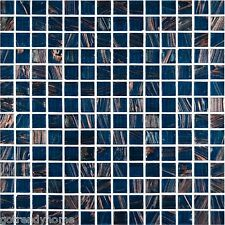 1 SF Blue Iridescent Glass Mosaic Tile Backsplash Kitchen wall bathroom shower