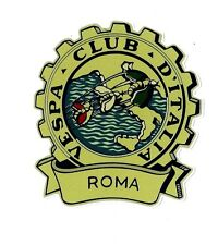 """VESPA CLUB ROMA"" VINYL DECAL STICKER ITALY SCOOTER LAMBRETTA MODS MOTORCYCLE"