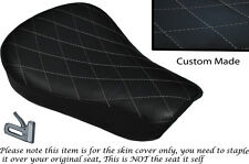 DIAMOND STITCH GREY CUSTOM FITS HARLEY SPORTSTER 883 48 72 RIDER SEAT COVER