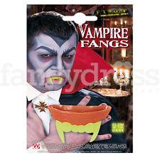 Vampire Vampiress Fangs Halloween Teeth Adult Deluxe Scary Dracula Glow In Dark