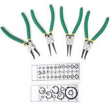 "4pcs 7"" Snap-ring Pliers with Circlip E-clip Snap Rings Assortment Tool Set Kit"