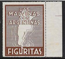 Argentina stamps Propaganda Cinderella Las Malvinas  UNG  VF