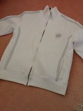 Mens white zip top. Size S .. Trackie style top.