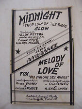 Partition Midnight Teddy Peters Melody of Love Glazer Engelman Slow Fox