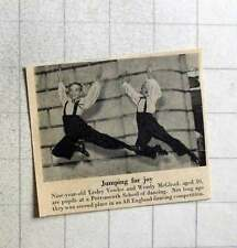 1956 Leslie Vowles Wendy Mcglead Jumping For Joy Portsmouth School Of Dancing