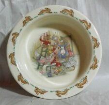 Royal Doulton Bunnykins Porcelain Childs Dish - Bunnies WallPaper Mess