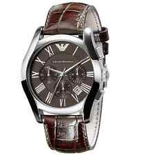 NEW EMPORIO ARMANI AR0671 MENS LEATHER WATCH - 2 YEAR WARRANTY