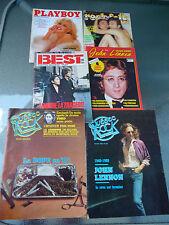John Lennon Lot de 6 Magazines en Français (Playboy, Québec Rock,Rock & Folk...)