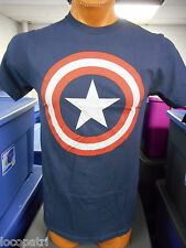 Mens Marvel Brand Captain America Shield Shirt New L