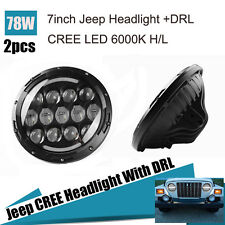 For Harley Motorcycle Headlight 7 Inch 78W H/L Beam CREE LED Headlight with DRL