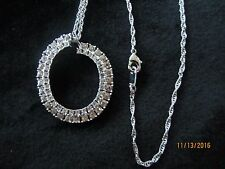 """FROM THE MARILYN MONROE COLLECTION - LARGE CRYSTAL PENDANT WITH 18"""" CHAIN"""