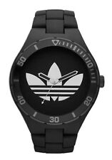 New Adidas Melbourne Matte Black Rubber Band Men Oversize Watch 50mm ADH2643 $95