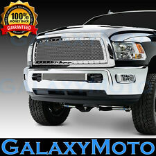 13-17 RAM Trucks 2500+3500+HD Chrome Replacement Rivet Studded+Mesh Grille+Shell