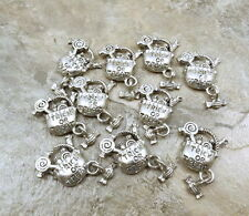 "10 Pewter ""Trick or Treat"" Bag Charms with Candy Dangle - HALLOWEEN - 5205"