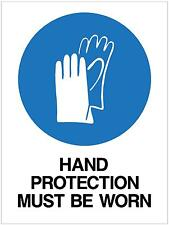 HAND PROTECTION MUST BE WORN - METAL SIGN - 300X225 - MANDATORY SAFETY SIGN