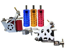 New 2pcs 10 wraps Tattoo Machine Guns with 3pcs tatoo Grips Tubes parts Sets