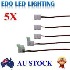 5pcs LED Strips 10mm PCB board with wire Connector Adapter for 5050 LED Strip