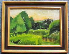 FRANKLIN WHITE - GREEN VALLEY - ORIGINAL PAINTING - C.1960 -  FREE SHIP IN US