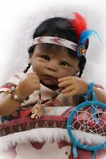 "22""Very popular&rare Native American Indian reborn baby doll"