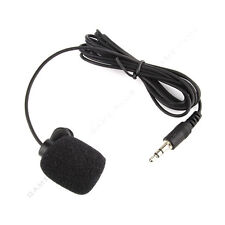 3.5mm Mini Studio Speech Mic Microphone Clip On Lapel for PC Desktop Notebook