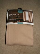 Two Window Panel Curtain Beach House Tan Target Home Pottery Barn New