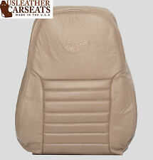 1999 Ford Mustang GT V8 -Driver Side LEAN BACK Perforated Leather Seat Cover Tan