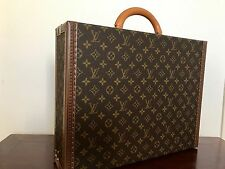 Louis Vuitton President Classeur Hard Briefcase Monogram with Leather UNUSED!