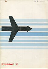 SWISSAIR ANNUAL REPORT 1973 FRENCH LANGUAGE SR