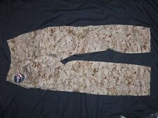 USMC MARPAT TROUSERS MEDIUM-LONG nwt FROG USA MILITARY MCU DESERT CAMO PANTS dfp