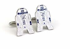 High Quality Cufflinks Star Wars 7 R2D2 Cuff links silver Colour L461