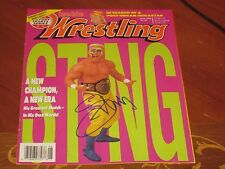 Sting Autographed Wrestling Cover Page